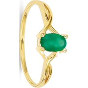 Designer 14K Yellow Gold Emerald Birthstone Ring Made In United States -Jewelry By Sweet Pea Creations