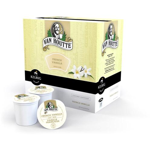 Keurig K-Cups, Van Houtte French Vanilla Coffee, 18ct