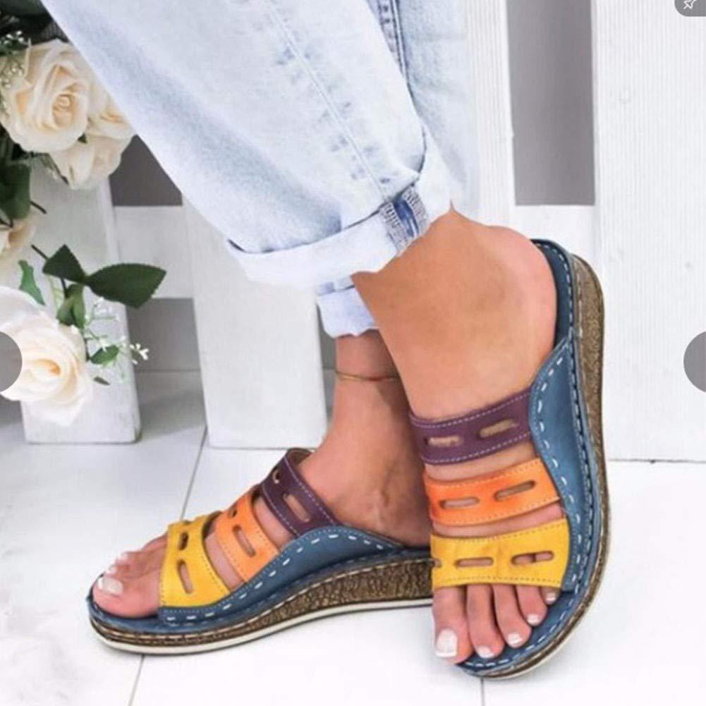 Women Summer Platform Wedges Heel Shoes Ladies Beach Holiday Espadrilles Sandals