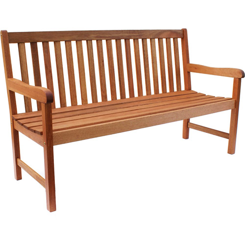 Milano 5' FSC Eucalyptus Wood Outdoor Bench by INTERNATIONAL HOME