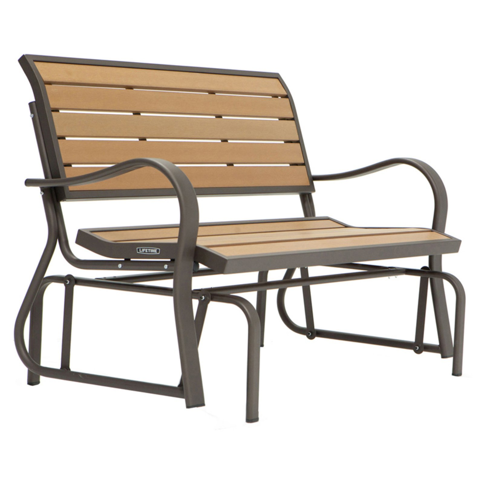 Lifetime Wood Alternative Glider Bench, 60055 by Outdoor Benches