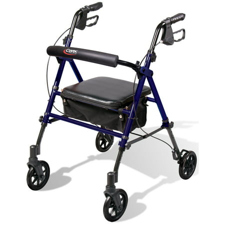 Carex Step N Rest Rollator Rolling Walker With 6  Wheels