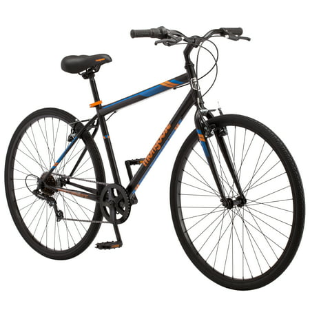 700C Mongoose Hotshot Men's Bike, Black / Orange (Schwinn Volare 700c Mens Road Bike Review)