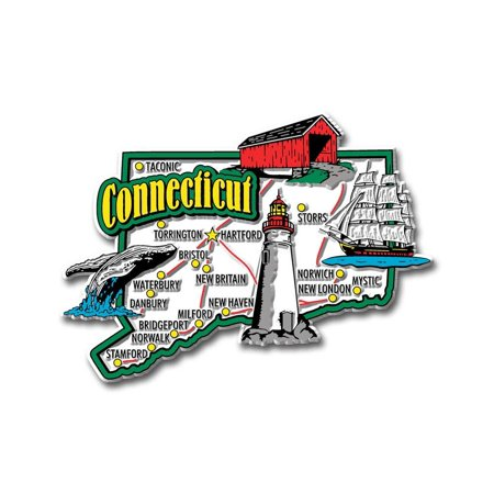 - Connecticut Jumbo State Map Fridge Magnet