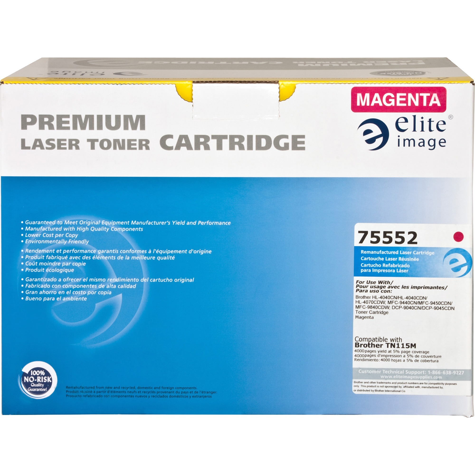 Elite Image, ELI75552, Remanufactured BRT-TN115 Toner Cartridge, 1 Each