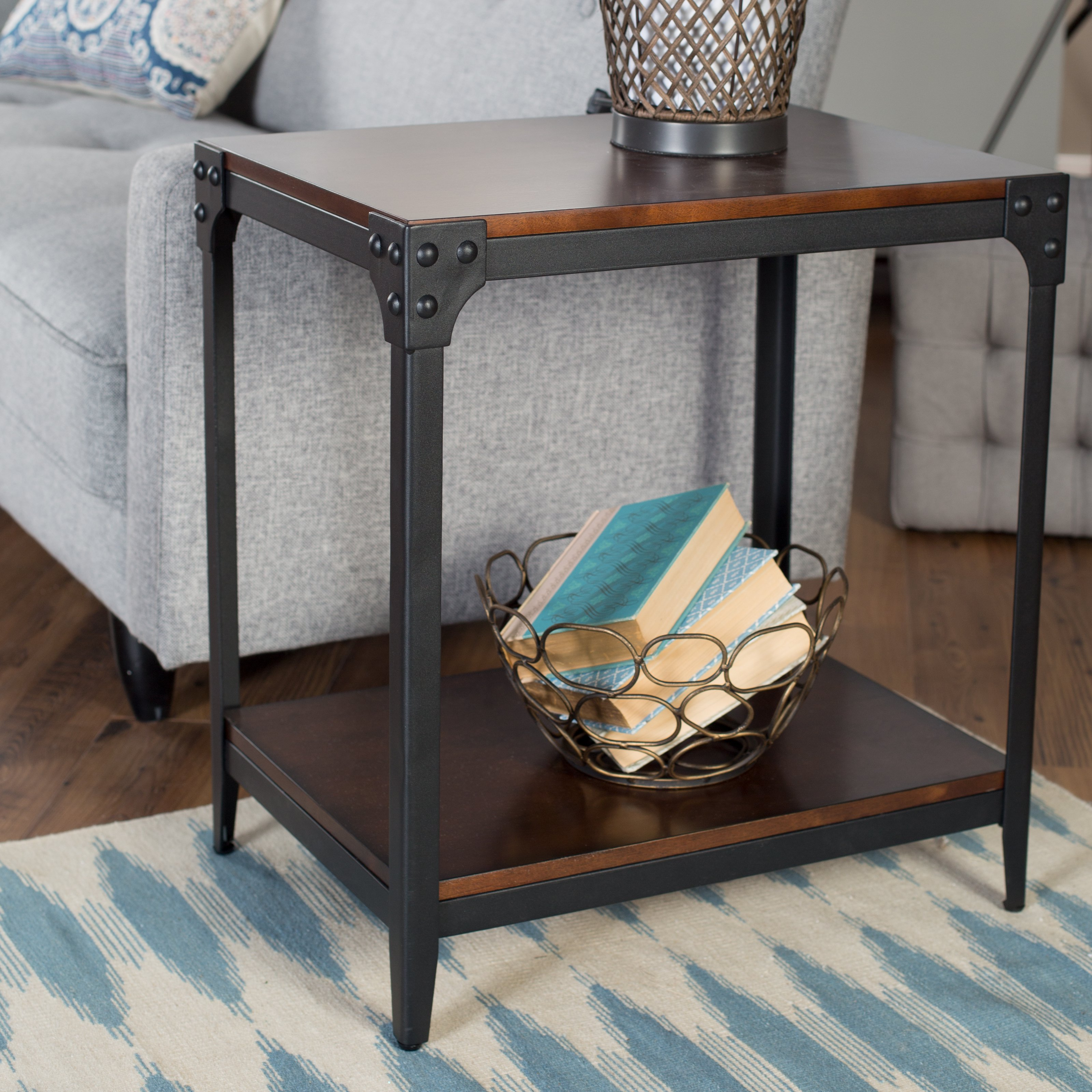 Belham Living Trenton Industrial End Table Espresso Walmartcom