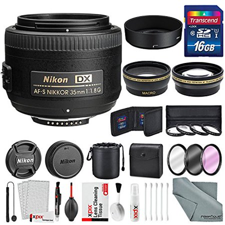 Nikon AF-S DX NIKKOR 35mm f/1.8G Lens, Platinum Accessory Bundle W/ 58mm (Best Wide Lens For Nikon Dx)