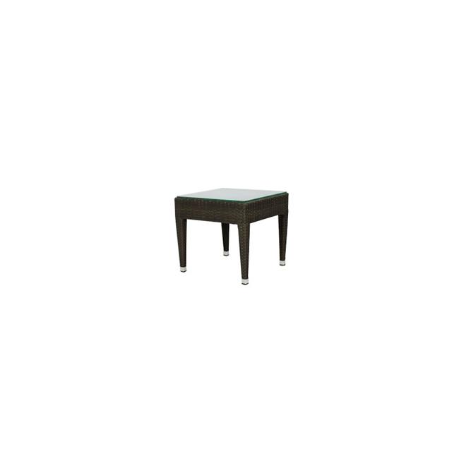 Source Outdoor SO-2002-303-ESP Zen Square Shaped End Table in Espresso by Source Outdoor
