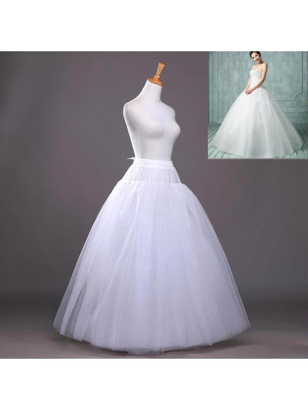 Generic No Hoop 8 Layer Bridal Bride Gowns Slip Crinoline Prom