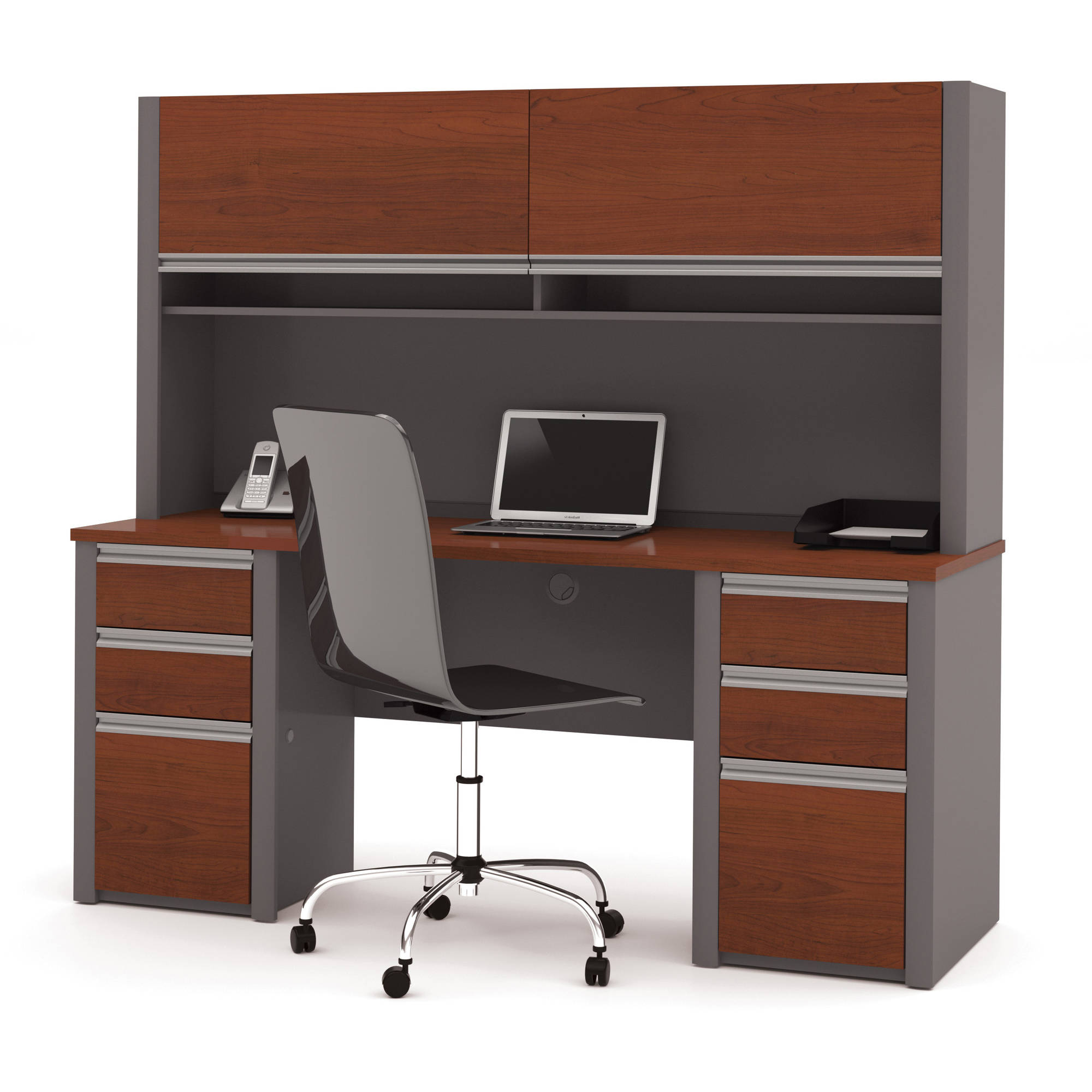 Bestar Connexion Credenza and Hutch, Multiple Colors