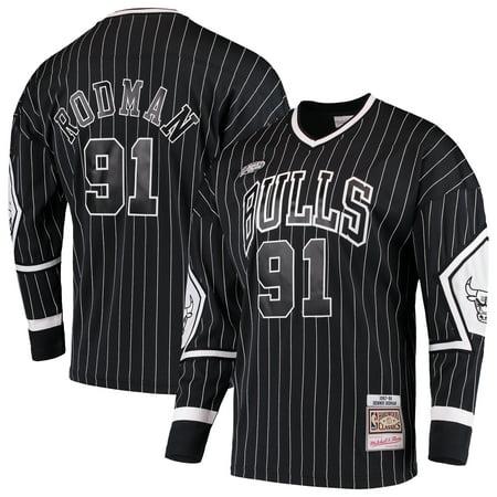 quality design 6f808 73be9 Dennis Rodman Chicago Bulls Mitchell & Ness Hardwood Classics Hockey Jersey  - Black