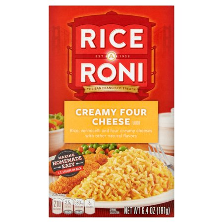 (12 Pack) Rice-A-Roni Rice & Vermicelli Mix, Creamy Four Cheese, 6.4 oz (Cheese Rice)