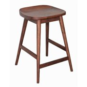 Style N Living ISNT-18C Santro Brown Wood Counter Stool - 25.5 x 19 x 18 in.