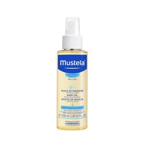 Mustela Baby Moisturizing Oil with Natural Avocado Oil, 3.4 Oz