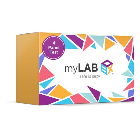 MyLab Box Safe Box - 4 Panel At Home STD Test + Mail-in Kit for - Sti Panel