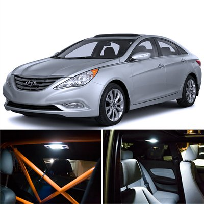Hyundai Sonata Interior Package Led Lights Kit Smd White 2011 2014