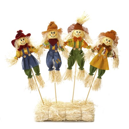Darice Fall Floral Large Scarecrow Picks 6 x 18 inches Assorted Styles](Scarecrow Crafts)