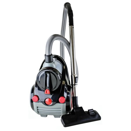 Ovente Cyclonic Bagless Canister Vacuum with Hepa Filter and Brush, - Cyclonic Bagless Vacuum