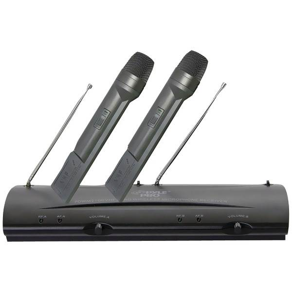 Professional Dual VHF Wireless Handheld Microphone System