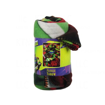 Officially Licensed Nickelodeon Fleece Throw Blanket   Teenage Mutant Ninja Turtles  Officially Licensed Product By Pacific Northwest Auto Group
