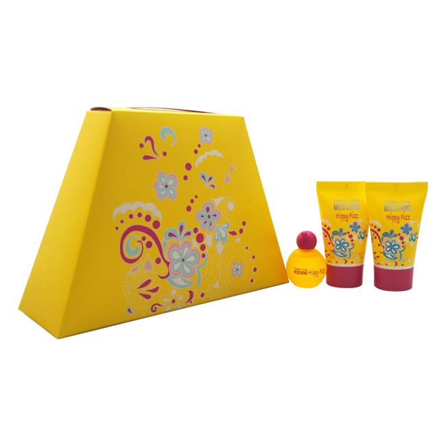 Cheap and Chic Hippy Fizz by Moschino for Women - 3 Pc Mini Gift Set 4.5ml EDT Splash, 0.8oz Perfumed Bubble Bath & Shower Gel, 0.8oz Silk Body Lotion