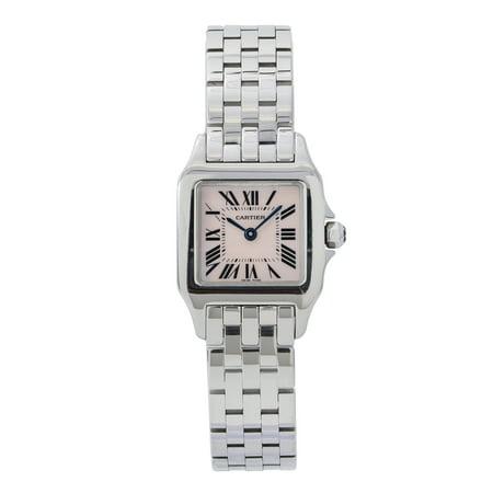 Pre-Owned Cartier Santos Demoiselle W25075Z5 Steel Women Watch (Certified Authentic & Warranty)