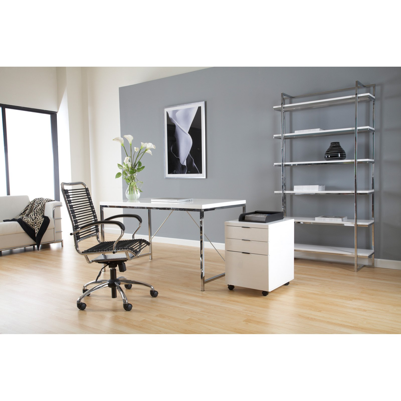 Euro Style Gilbert Writing / Laptop Desk - White