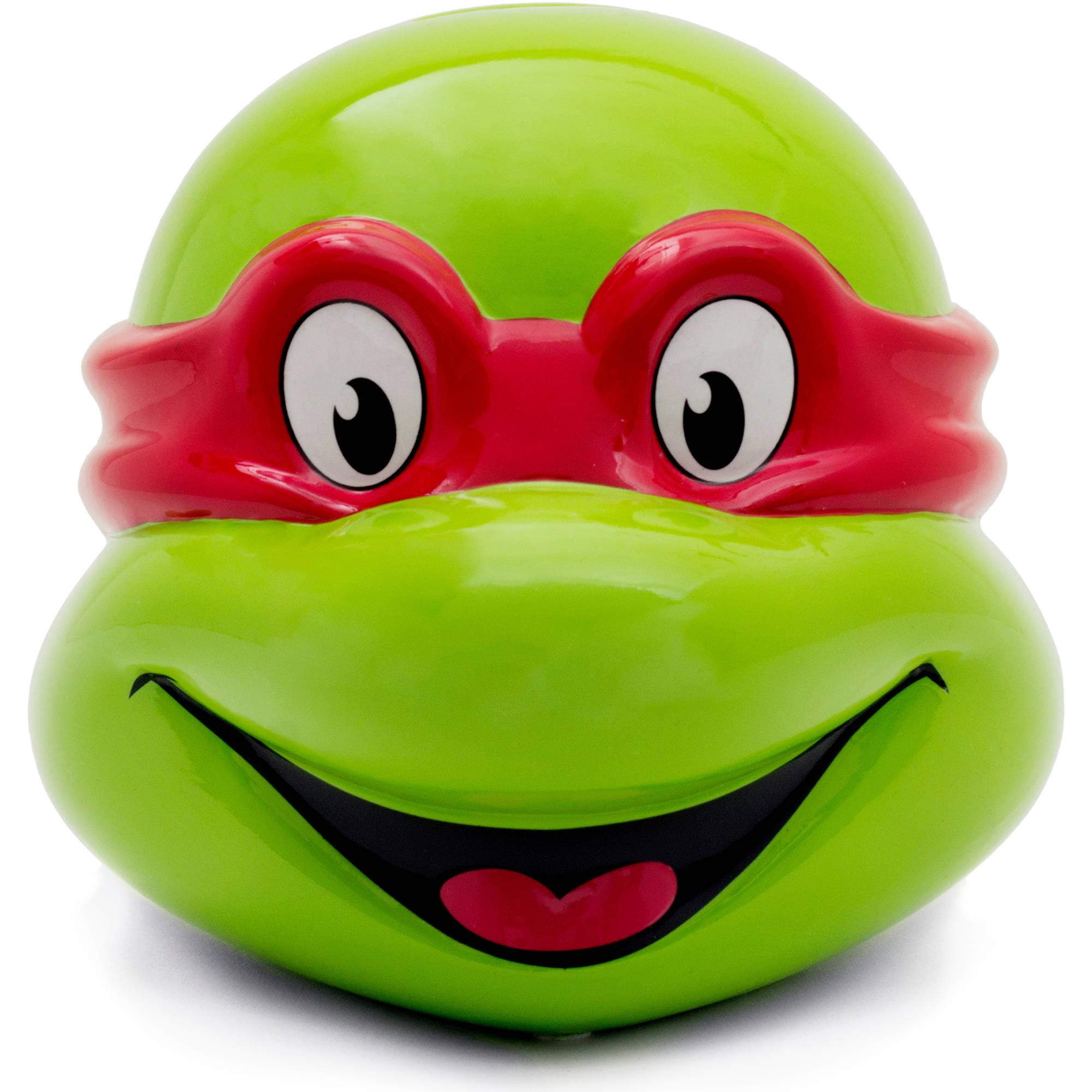 Teenage Mutant Ninja Turtle Ceramic Raphael Head Piggy Bank