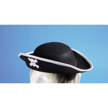 Star Power Child Pirate Skull and Crossbones Costume Hat, Black, One Size