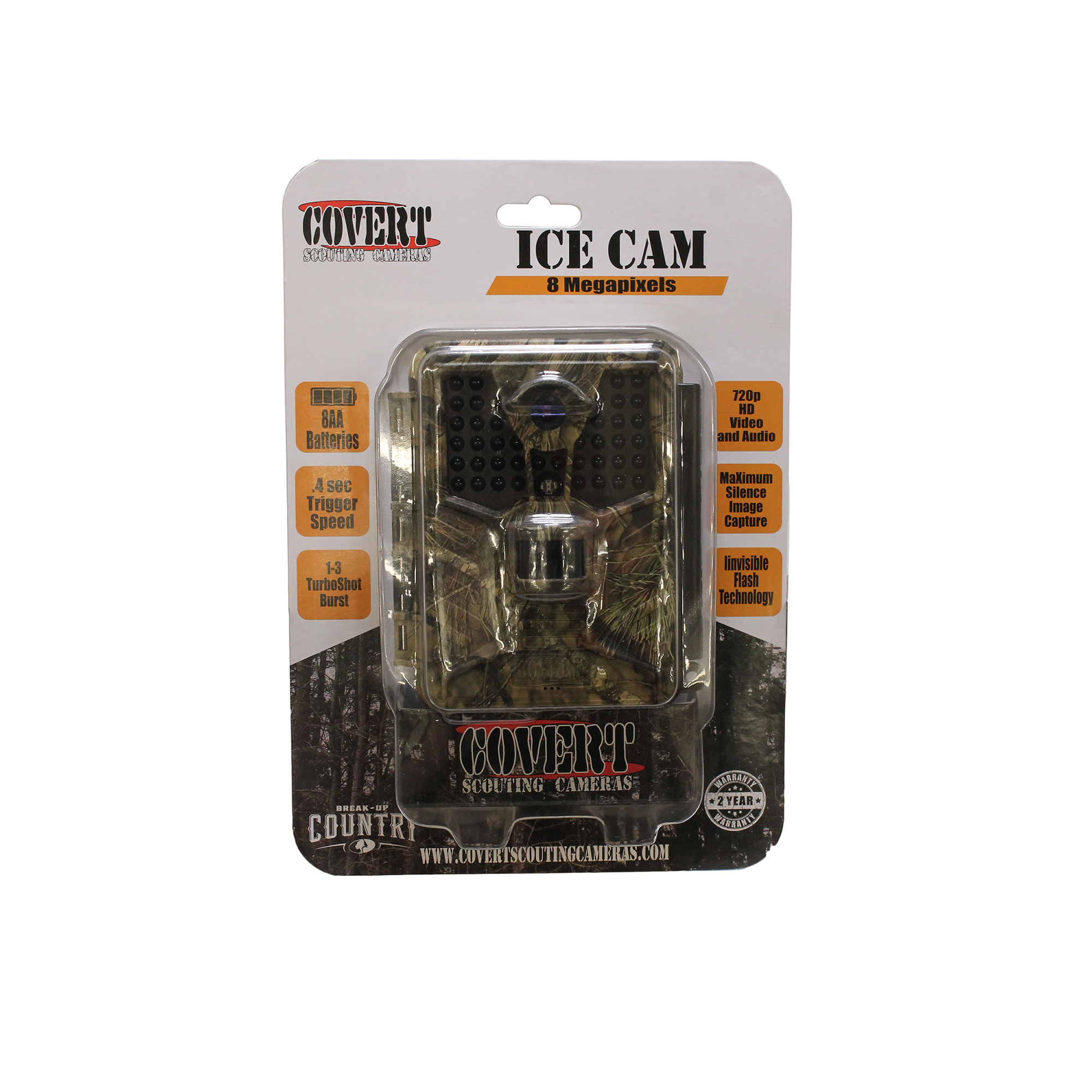 Covert Scouting Cameras ICE Infrared Game Camera, 8 Megapixel, Mossy Oak Country