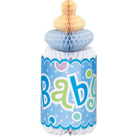 (3 Pack) Polka Dot Boy Baby Shower Centerpiece Decoration, 12 in, Blue, - Baby Shower Decorations For Boys