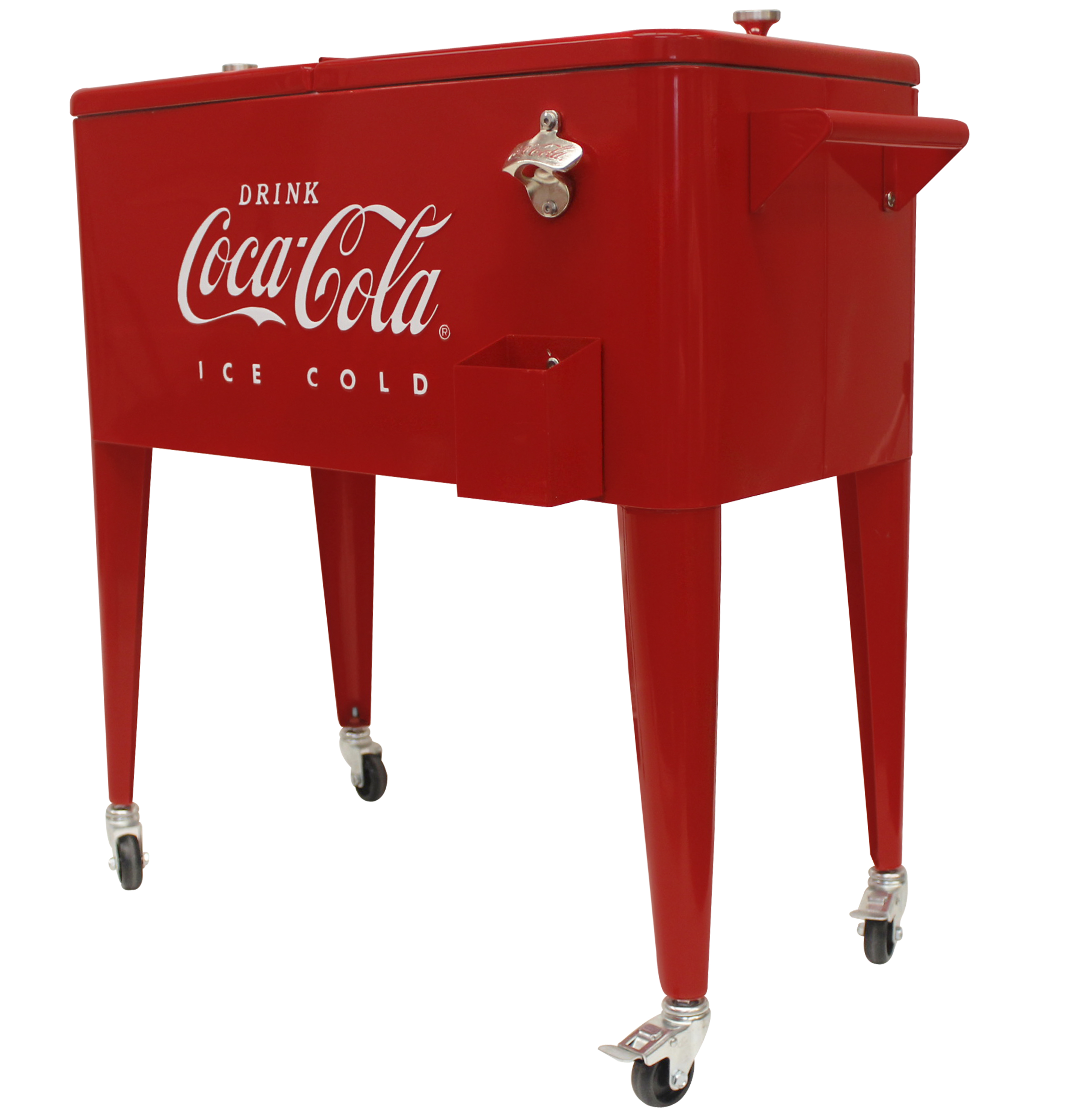 Leigh Country 80 Qt. Embossed (Ice Cold) Coca-Cola Cooler