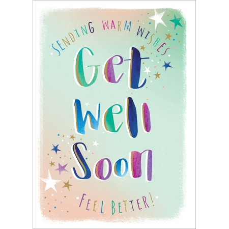 Ling Design Sending Warm Wishes Multi-Colored Letters Get Well