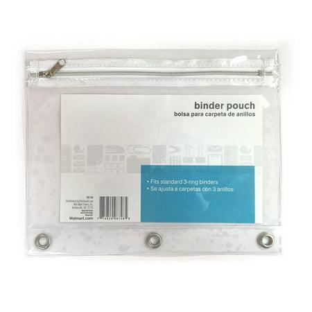 Binder Pouch Clear Walmart Com