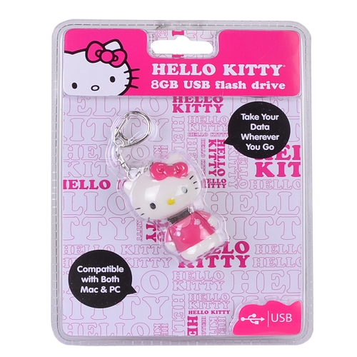 Vivitar Sanrio Hello Kitty 8GB USB 2.0 Flash Drive w/Keychain Attachment