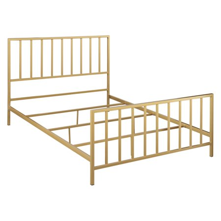 Clear Twin Size Headboard - Accentrics Home All-In-One Slat Style Queen Metal Bed