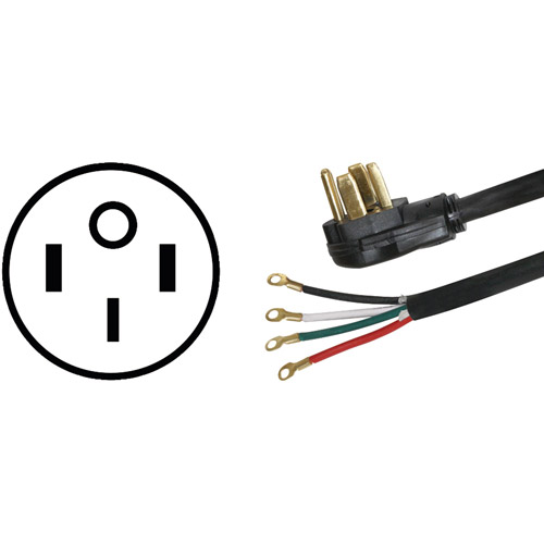 Certified Appliance 77450 4-Wire Range Cord, 40a, 4'