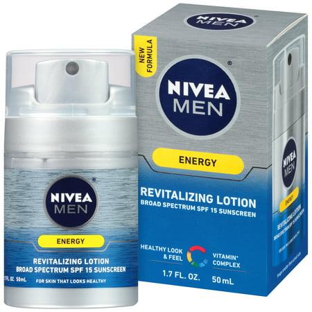 Nivea Men Energy Lotion Broad Spectrum Spf 15 Sunscreen  1 7 Fl Oz