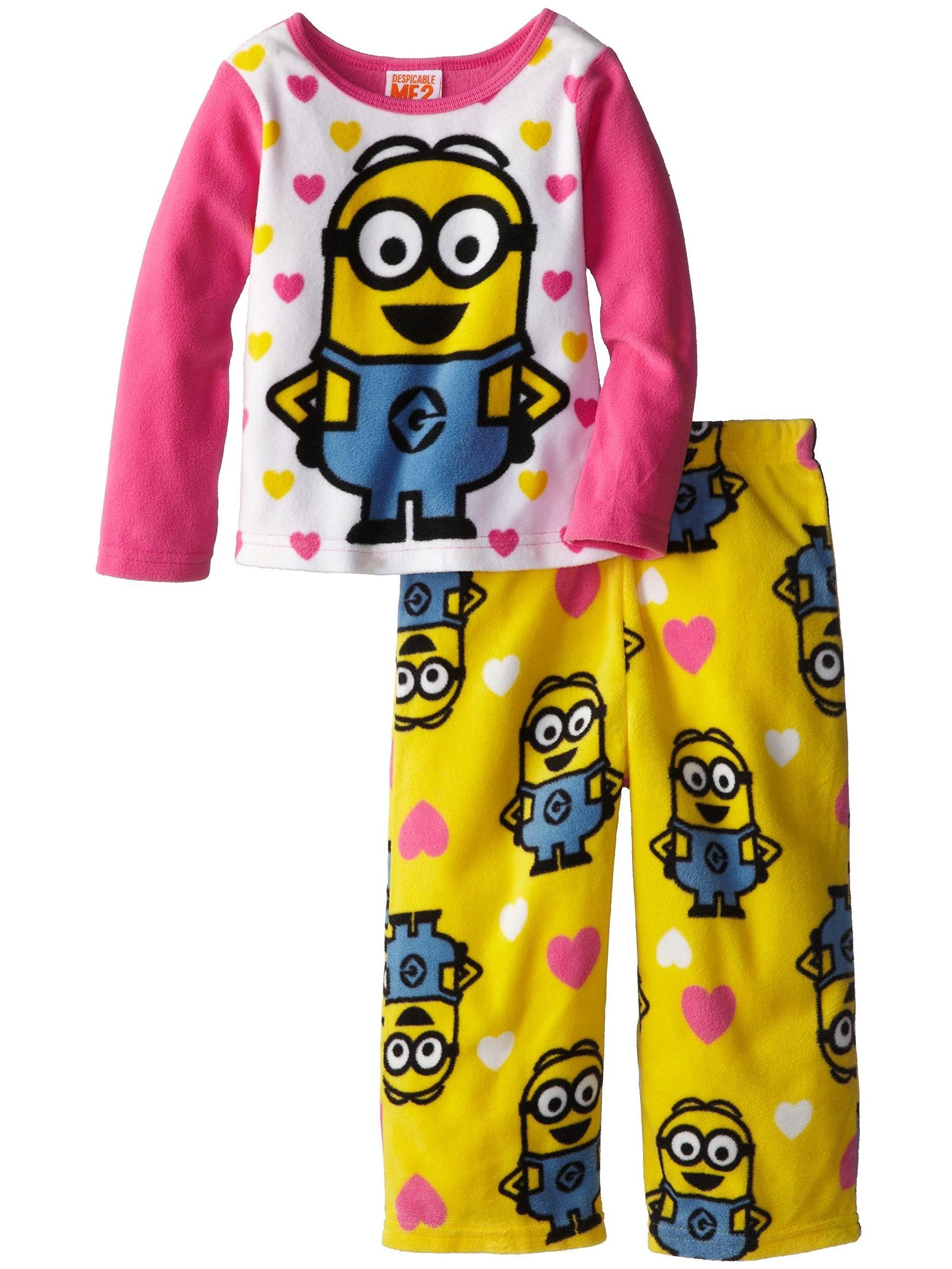 AME Sleepwear Little Girls' Despicable Me Cozy Fleece Pajama Set