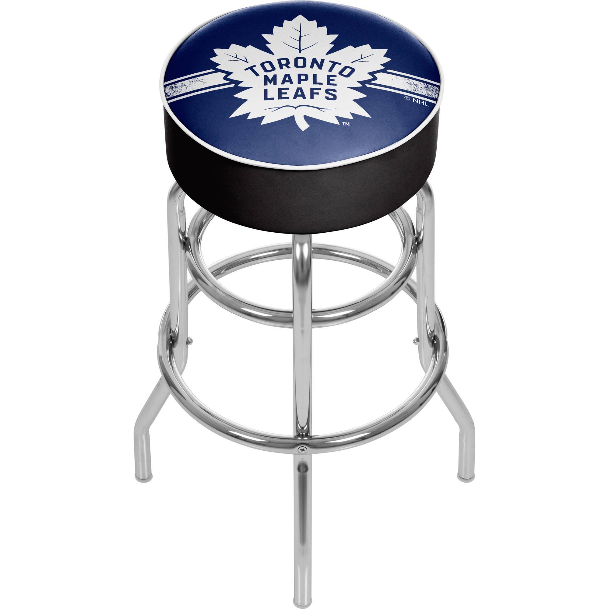 NHL Chrome Bar Stool with Swivel, Toronto Maple Leafs