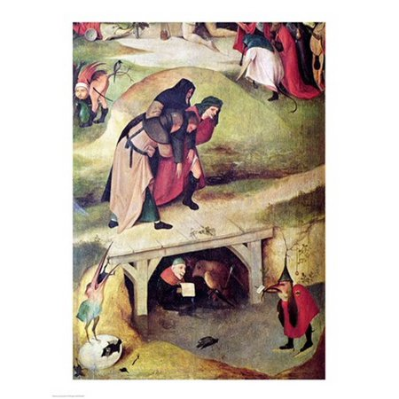Temptation of St Anthony detail from left hand panel of the triptych Canvas Art - Hieronymus Bosch (18 x 24) Left Hand Panel