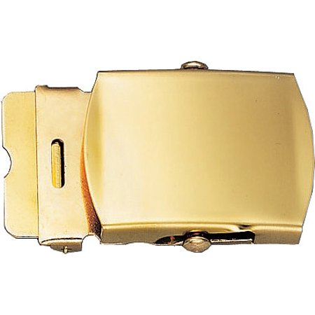 Gold - Solid Brass Military Web Belt Buckle