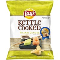 Lay's Kettle Cooked Wasabi Ginger Flavored Potato Chips 2.75 oz. Bag