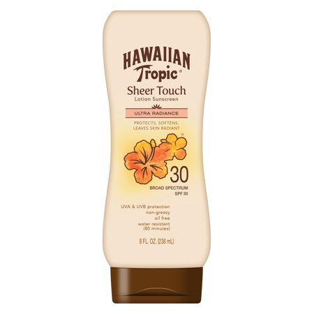 Hawaiian Tropic Sheer Touch Lotion Sunscreen SPF 30, 8 (Best Suntan Lotion For Face Uk)