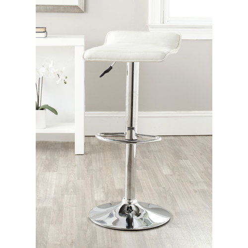 Safavieh Kemonti Adjustable Height Swivel Bar Stool with Cushion