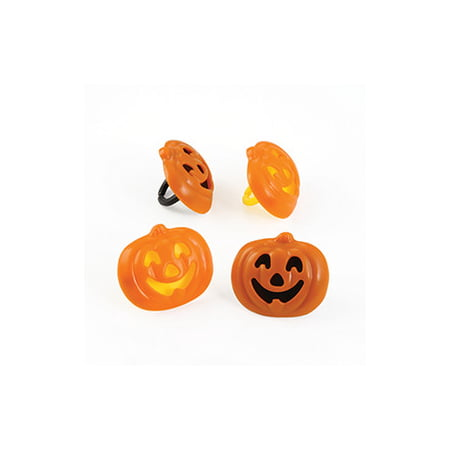 12 Pumpkin Stacked Halloween Cupcake Cake Rings Birthday Party Favors Toppers