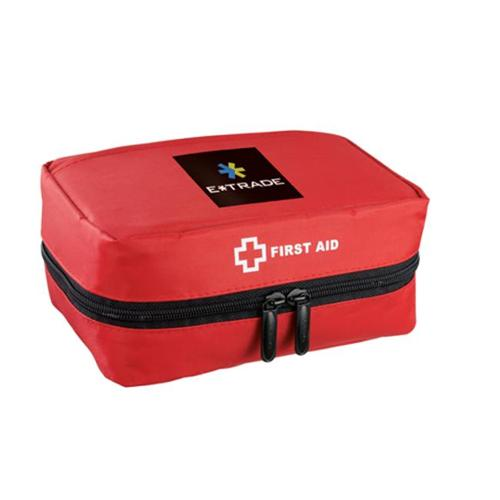 Leeds 1400-46 StaySafe Travel First Aid Kit - Red