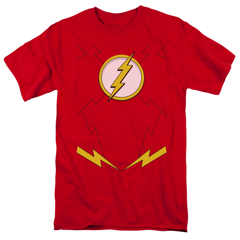Jla/New Flash Costume S/S Adult 18/1   Red     Jla391