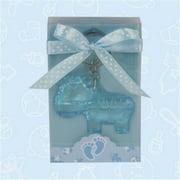 Baby Shower Cute Blue Zebra Acrylic Keychain