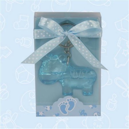 Baby Shower Cute Blue Zebra Acrylic Keychain